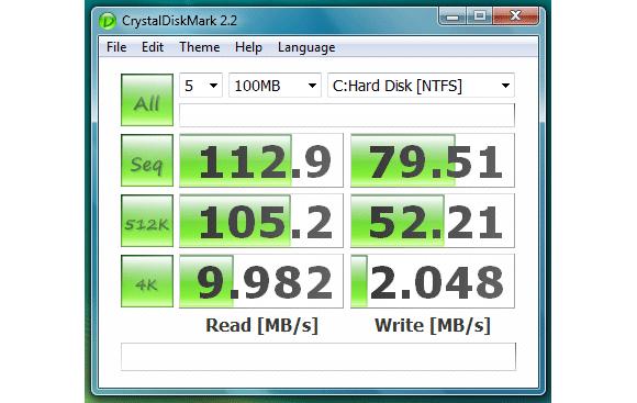 Windows 7 on a 32GB Patriot SSD on Lenovo S10