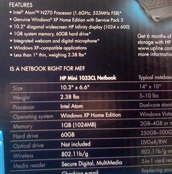 HP Mini 1033CL