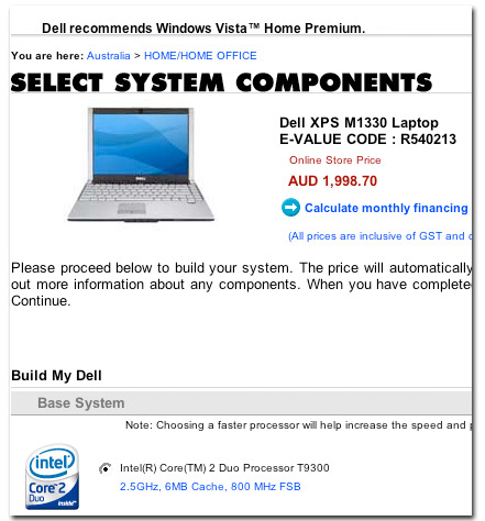 Dell XPS M1330 With Penryn