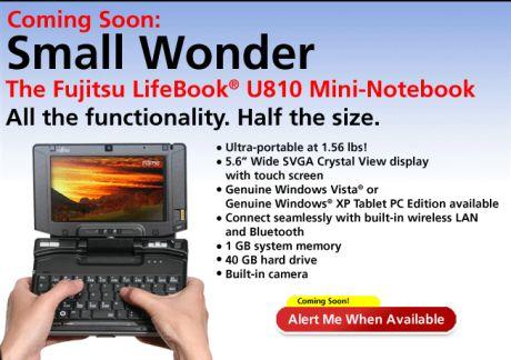 Fujitsu FMV-U810 UMPC